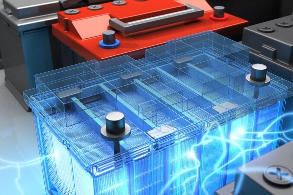 放電するカーバッテリー