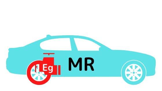 MRのエンジンと駆動輪の位置