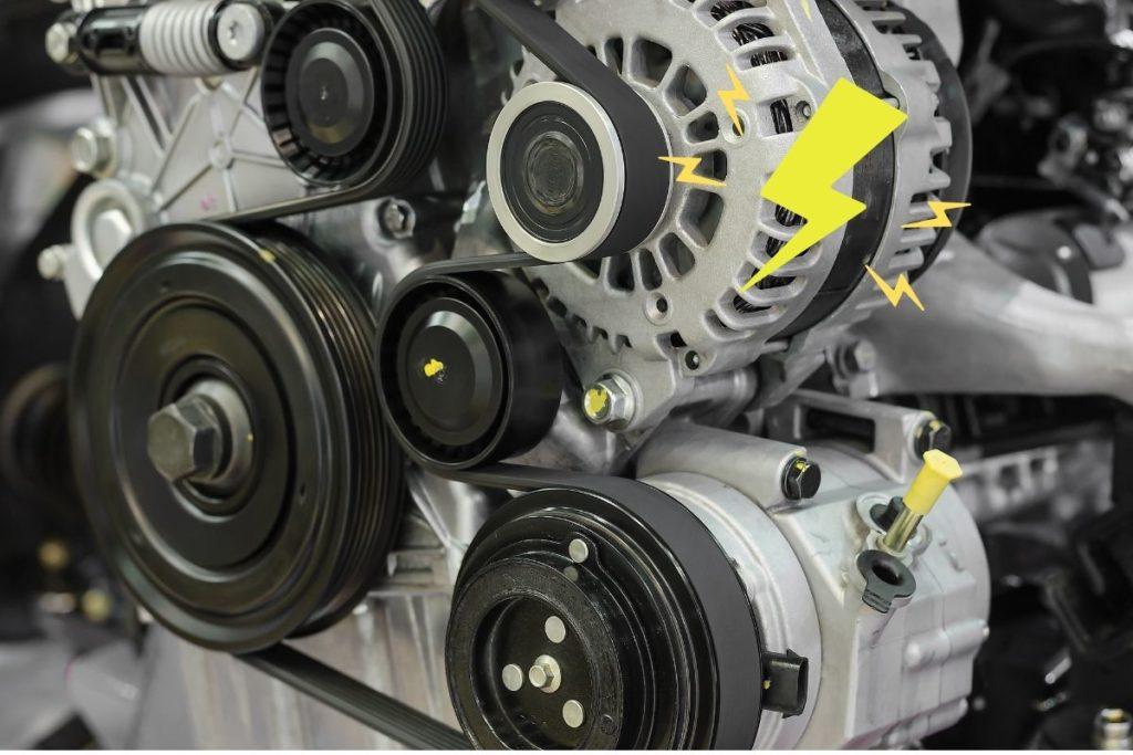 エンジンの補器類とファンベルト